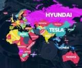 Які марки автомобілів шукають в Google в різних країнах