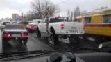 У Києві помітили позашляховик на гусеницях